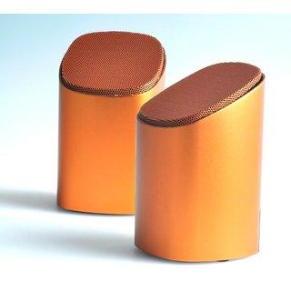 Enzatec Metallica Retractable Speaker (Orange-Sp302)