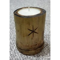 Bamboo Wood Candle With (exotic Bamboo Scent) 3 Nos In A Pack