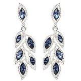 The Pari Designer Blue And Silver Earrings (TPER-310)