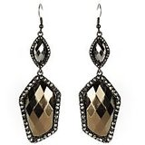 The Pari Stylish Black And Grey Earrings (TPER-97)