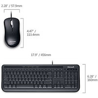 MICROSOFT KEYBOARD MOUSE COMBO WIRED DESKTOP DT 600