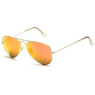 RayBan Aviator Mercury Mirrored Orange Sunglasses