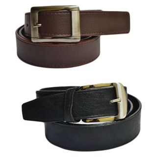 Combo - Men's Leather Belt (Black & Brown)