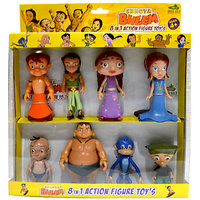 Chhota Bheem Action Figures 8 In 1 Combo Set