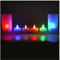 Flickering Flameless LED Tealight Tea Candles Light For Diwali Spa Decoration