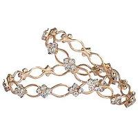 Trendy Zig Zag Set Of 2 Bangles By Sparkling Jewellery