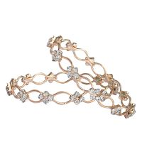 Trendy Zig Zag Gold Plated 2pc Bangle  By Sparkling Jewellery