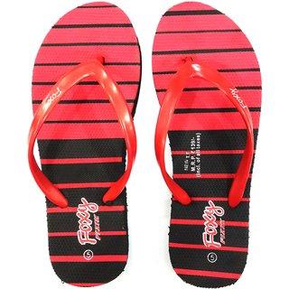 Foxy New TT Black & Red Women's Flip Flops [CLONE]