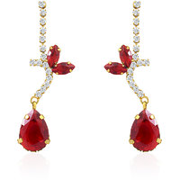 Oviya Gold Plated Golden Expression Earrings With Crystal For Women