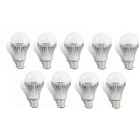 LED BULB 5W BRIGHT WHITE LIGHT LED BULB SAVING ENERGY 1 SET OF 9 PCS.