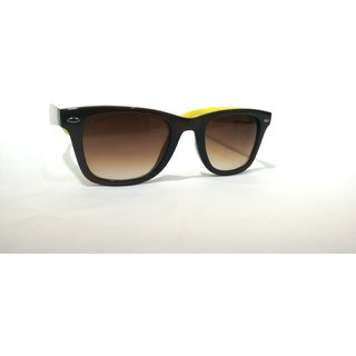 SCOTT SC 2702PC C7 Brown Yellow Wayfarer Sunglass