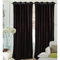 Fantasy Home Decor Curtain - Choclate Crush - Set Of 2