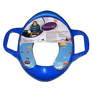 Fobhiya International Soft Padded Potty Training Seat with Support Handles (Blue)