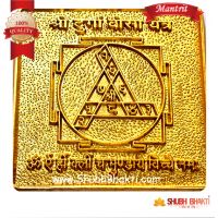 Shree Durga Beesa Yantra, Mantrit- 6*6 Gold Plated