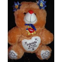 Teddy Bear With Heart, Kid,child,love Diwali Gift, Soft Toys, Brown