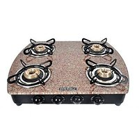 Designer Brown Marble Top 4 Burner Cooktop/Gas Stove