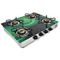 Jindal Designer O-Series Four Burner Gas Stove/Cooktop