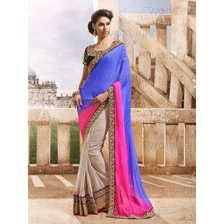 Ethnicbasket Party Wear georgette designer saree.EBS1010229007A