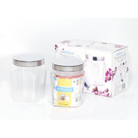 Steelo 1100ml X 2 Pcs PET Container Set (Squarish)