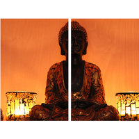 Creationz Two Panel Lord Buddha Painting