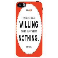 Snoogg You Have To Be Willing To Get Happy 2848 Case Cover For Apple Iphone 5 /5S