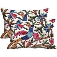 Bird Set Of 2 Pc Digitally Printed Pillow Cover(12x18)