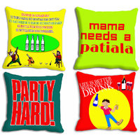 MeSleep Multi Cocktail Party Cushion Covers -4pc Combo (16x16)