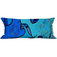 MeSleep Blue Lips Digitally Printed NeckRoll With Filler (9x20)