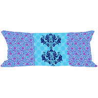 MeSleep Blue Pattern Digitally Printed NeckRoll With Filler (9x20)