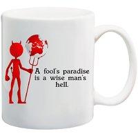 MeSleep Paradise Funny Quote Mug