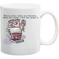 MeSleep Blunder Funny Quote Mug