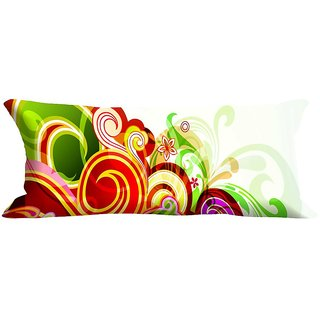 meSleep Swirl Abstract Digitally Printed NeckRoll with Filler (9x20)