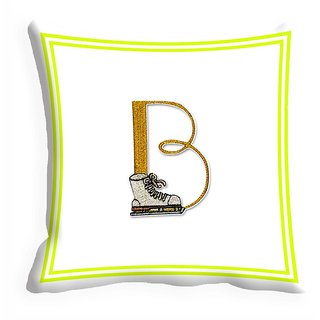 meSleep Alphabet B Digitally Printed Cushion Cover (16x16)