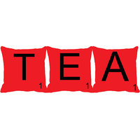 MeSleep Alphabet TEA 3 Pc Cushion Cover(16 X 16)