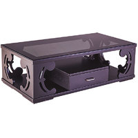 MAVI CENTER TABLE WITH DRAWER & GASS TOP: MCT-403