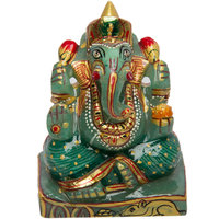 Ganesha In Jade Stone(Margaz Ke Ganesha) For Home/puja/gift
