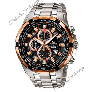IMPORTED CASIO EDIFICE EF - 539 D -1A5V, Copper+Black, Chronograph Men's Watch (Imported)