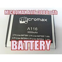 MICROMAX A116 Battery-3000MAH FOR MICROMAX CANVAS HD-Battery 4 Micromax