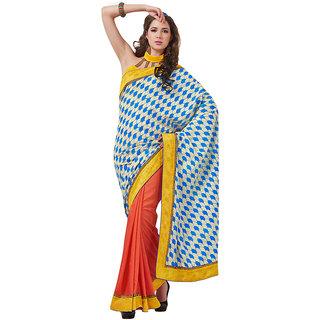 Ethnicbasket party wear art silk printed designer saree.EBS1010351607