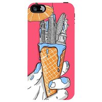 Snoogg New York In An Ice Cream Case Cover For Apple Iphone 4 /4S