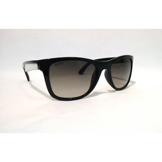 SCOTT SC 1804 C1 BLACK WHITE SIDES WAYFARER SUNGLASS
