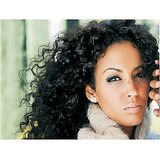 Virgin Vtip Indian Natural Curly Hair Natural Black16 Inch