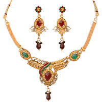 Gold Plated Necklace Set  By Sparkling Jewellery