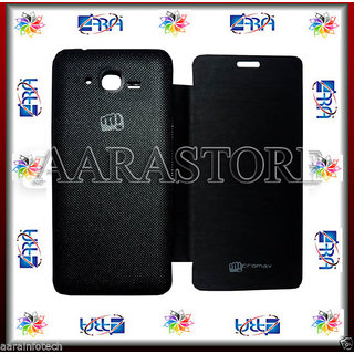 AARA Flip Covers Micromax BOLT A67  Black available at ShopClues for Rs.249
