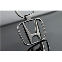 Honda Heavy Metal Alloy Chrome Key Chain Ring Car City Amaze Brio Accord Mobilio