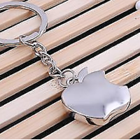 Keychain Fruit Apple Shaped Metal Keychain Bike Metallic Car Phone Bike Keyring