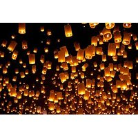 Premium Sky Lanterns 2 Pc - Dark Pink