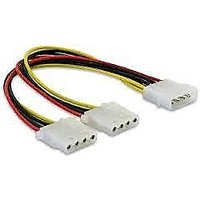 4 Pin Power Supply Smps Y Spliter Cable Molex Cable 2 Pcs
