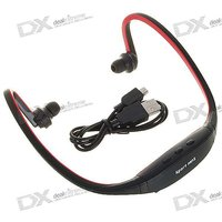 New Sports MP3 Player With Wireless Headset Headphone USB TF/SD Card Slot