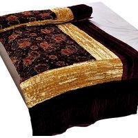 Shoppingtara Jaipuri Maroon Jaipuri Double Bed Velvet Quilt 407